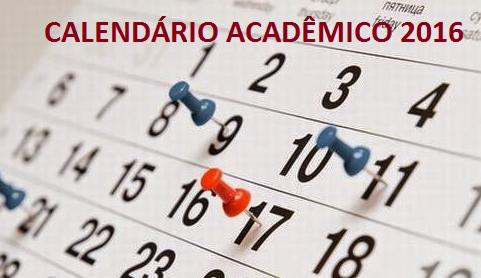 CALENDÁRIO ACADÊMICO 2016