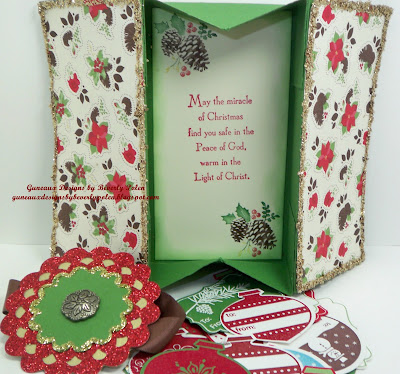 Stampin Up Holly Berry DSP Box Card
