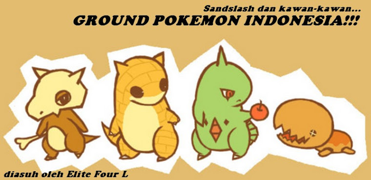 Sandslash dkk.: Ground Pokemon Indonesia!!!