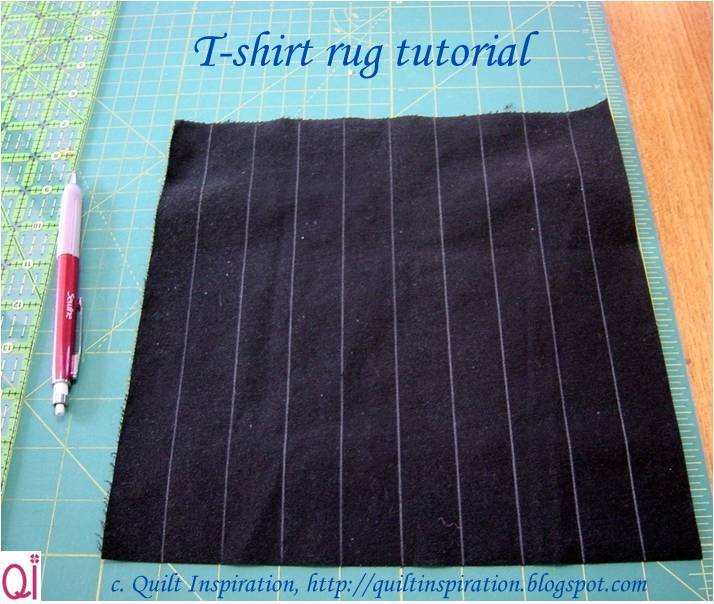 t shirt rug instructions