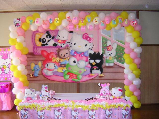 Decoracion kitty fiestas infantiles - Decoracion hello kitty ...