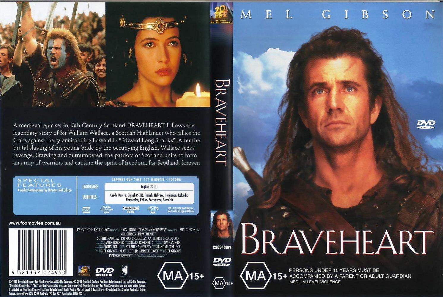 Braveheart Dvd Disk Cover