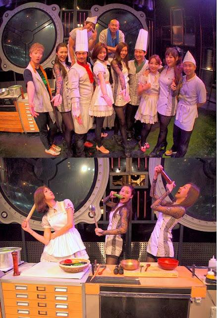 三位美姐在BIBAP秀团队的协助下成功客串演出,尽管语言不通但三人开朗个性却能与演出者打成一片