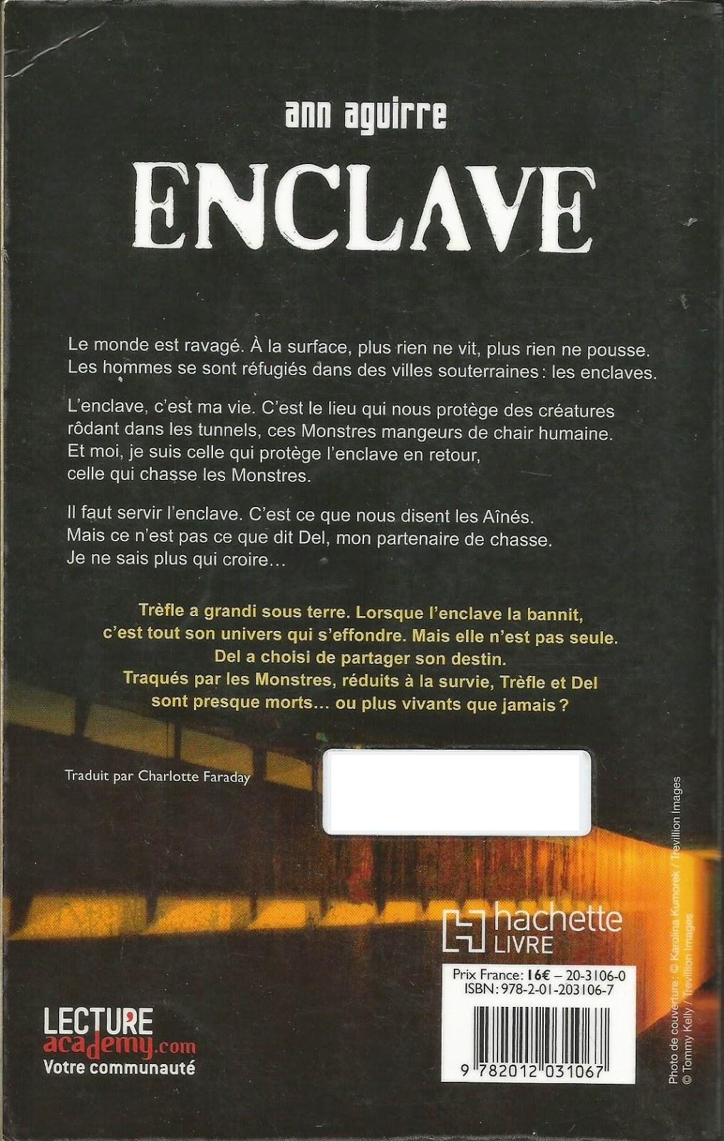Enclave Ann Aguirre backcover quatrième de couverture 4è de couv