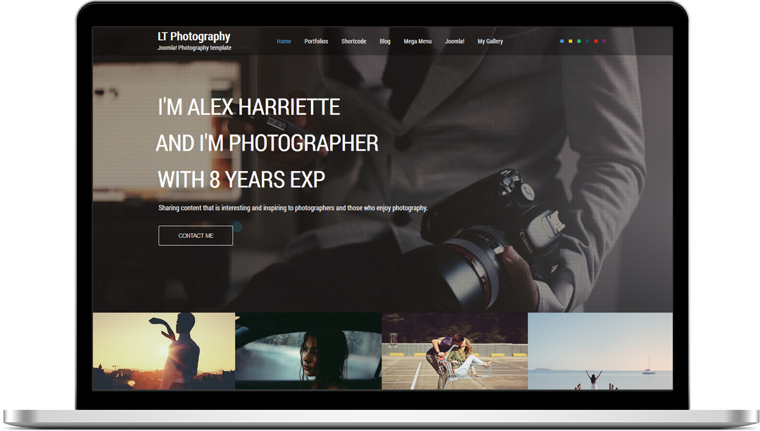 LT Photography Onepage - Fre Joomla! Template