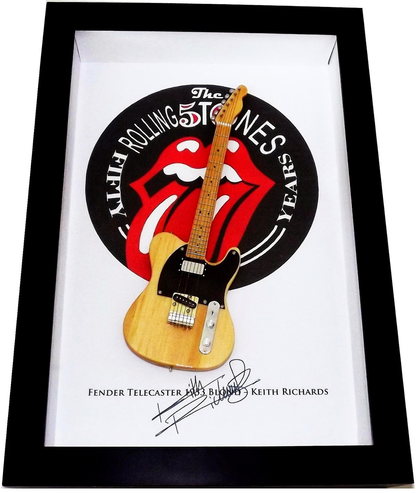 Guitarra em miniaturas Fender Telecaster Keith Richards Micawber