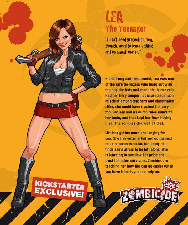 Zombicide personajes LEA