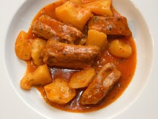 Los guisos de juliana recetas de cocina patatas guisadas con costillas adobadas - Lentejas con costillas y patatas ...
