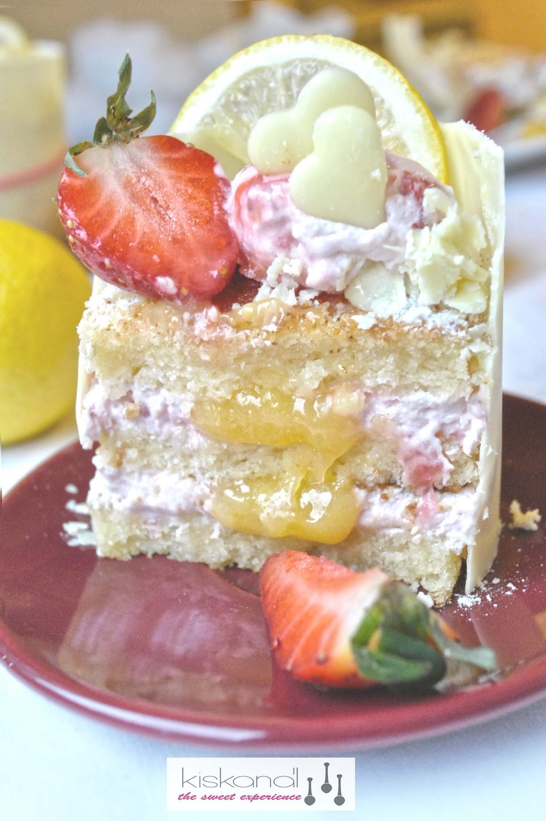 lemon curd strawberry mousse dessert