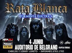 """RATA BLANCA EN EL """"AUDITORIO BELGRANO"""" - 04/06/2016"""