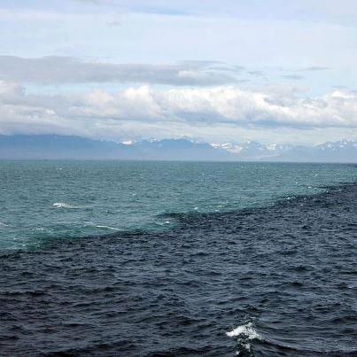 place where three oceans meet but do not mix