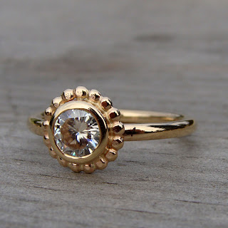 moissanite halo ring
