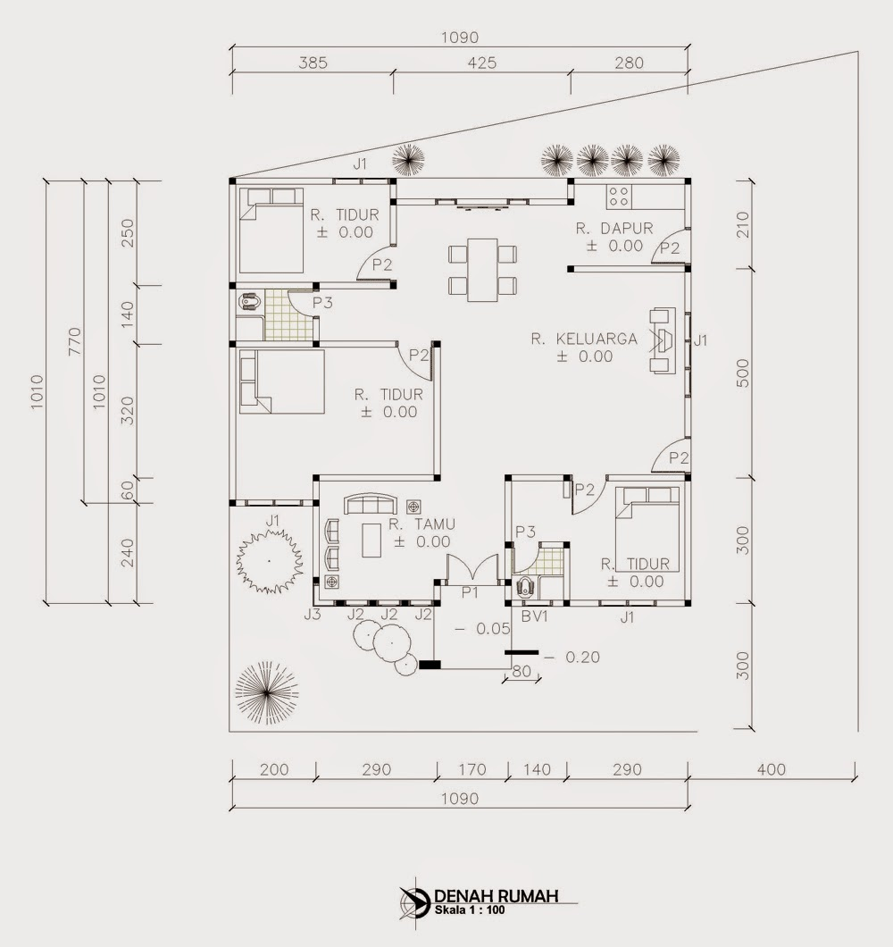 Rumah Minimalis 9 X 10 Omah Jati