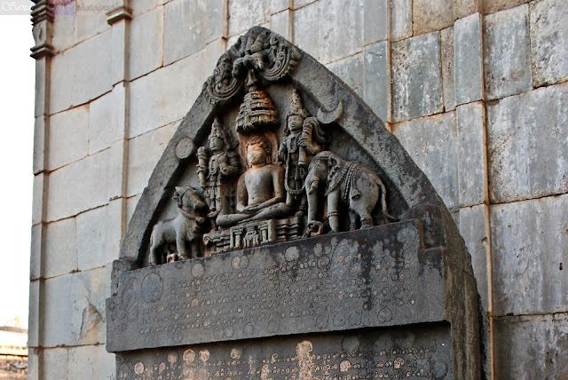 Kannada inscriptions outside the temple