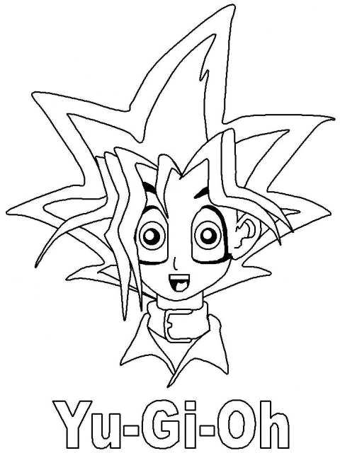 yu ghi oh coloring pages - photo#35