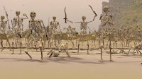 Actually a snapshot from Pirates. CGI skeletons, complete with gay skeleton on the right there.