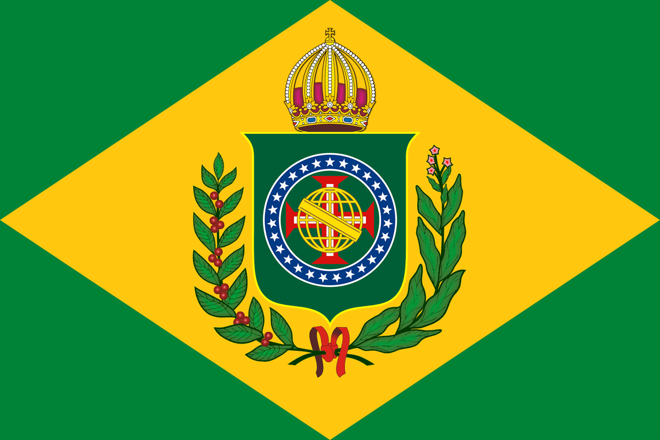 Bandeira do Brasil Imperial - Atualizada com as 27 Estrelas - Versão (10 X 15)