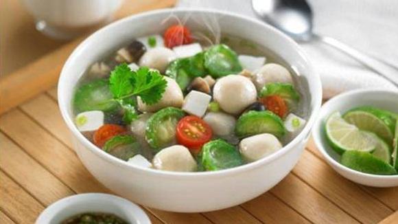 resep sup oyong bakso