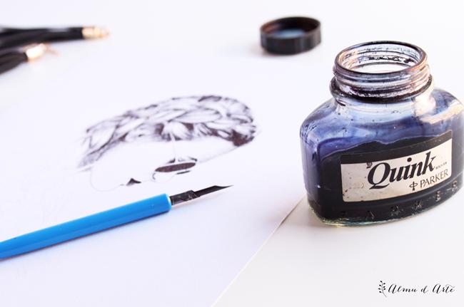 Cómo dibujar con tinta quink parker