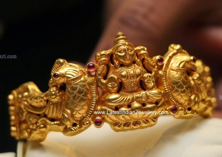 Nakshi Lakshmi Devi Peacock Design Kada