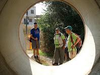 El túnel que ens permet creuar la carretera de Casserres