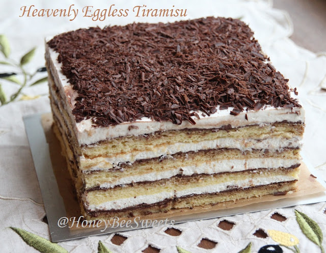 Honey Bee Sweets: Heavenly Egg-less Tiramisu