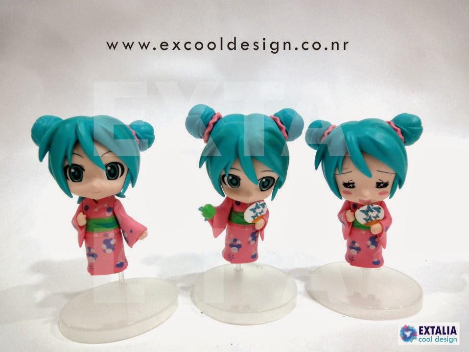 Kaito Chibi Figure Hatsune miku chibi kimonoKaito Chibi Figure