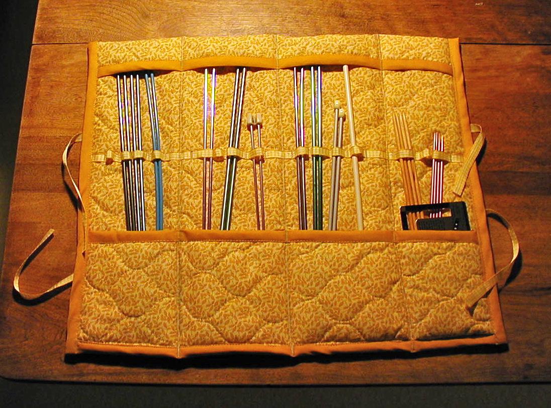 Knitting Needle Case Diy : The craft tutor a knitting needle case