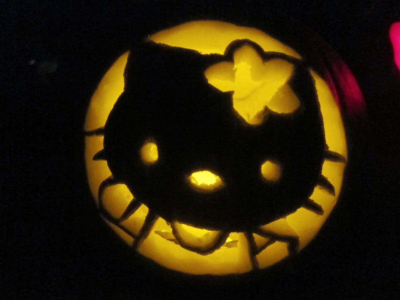 Mission focused momma halloween pumpkin carving hello for Hello kitty pumpkin carving patterns