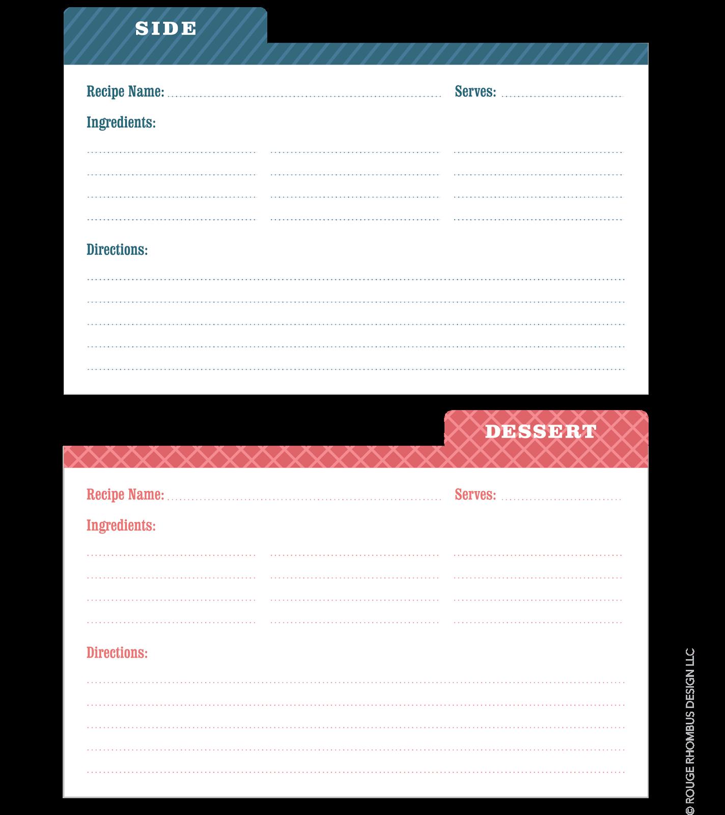 Recipe Card Template Recipe card template