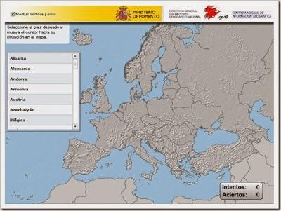 Puzzle mapa Europa político.