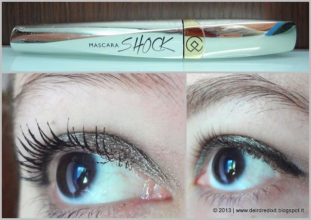Immagine di paragone tra il mascara Collistar applicato e le ciglia al naturale