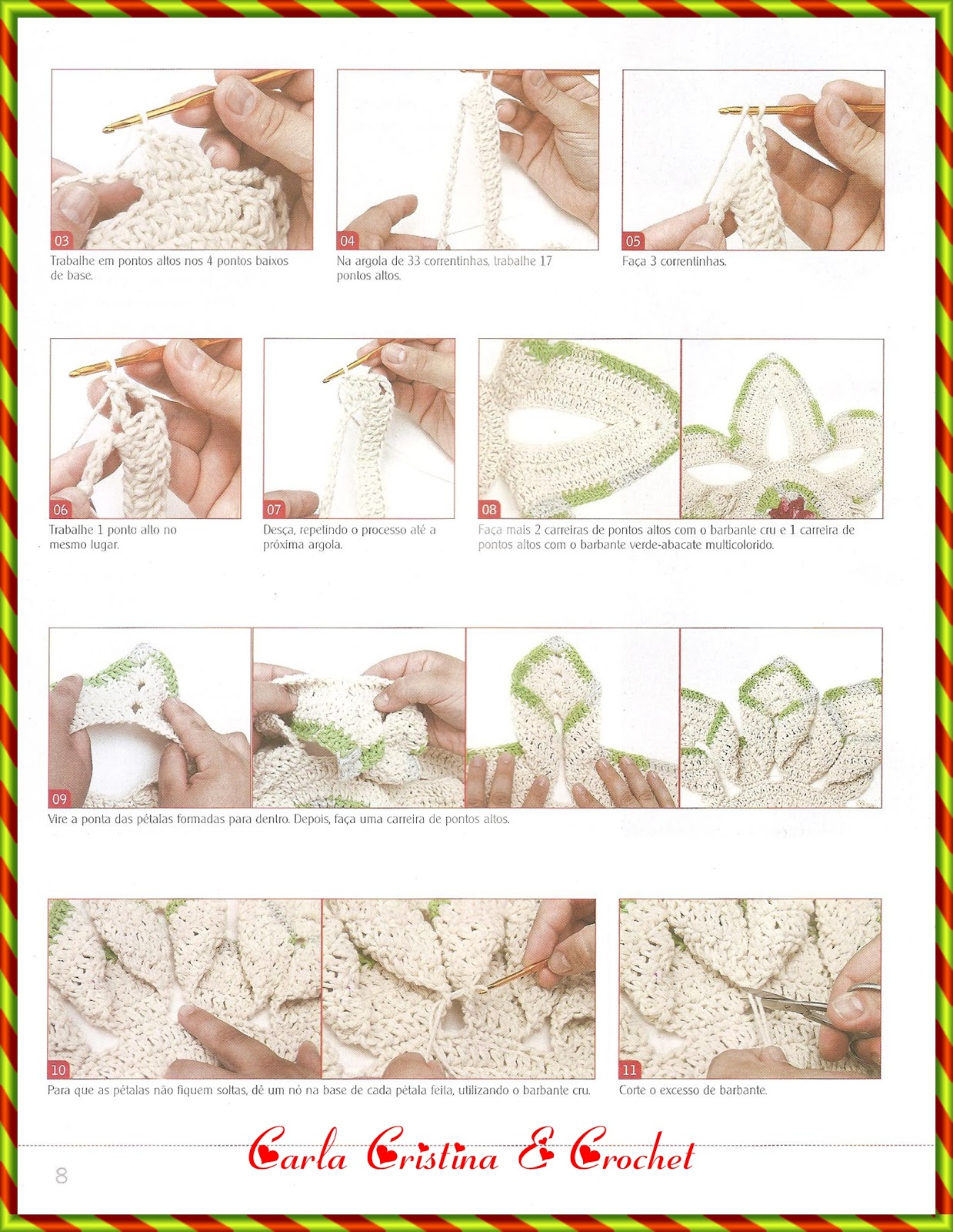 Carla Cristina Crochet Toalha De Mesa Em Barbante | Holidays OO