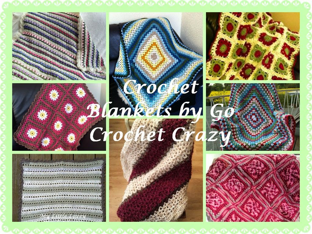 Various crochet afghans / crochet blankets from the Go Crochet Crazy blog.