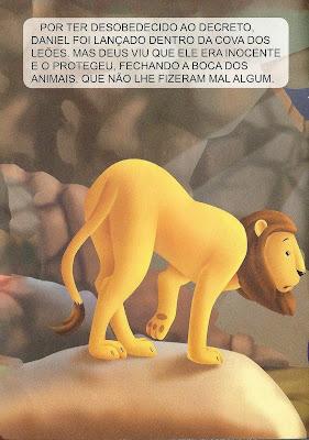 História bíblica - Daniel na cova dos leões