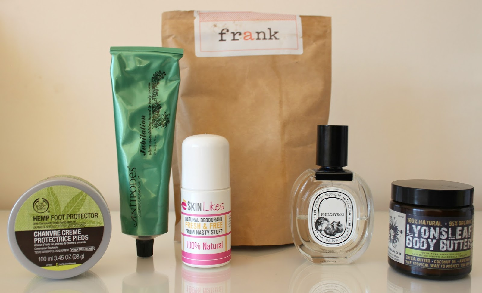 A picture of my favourite body care products of 2014