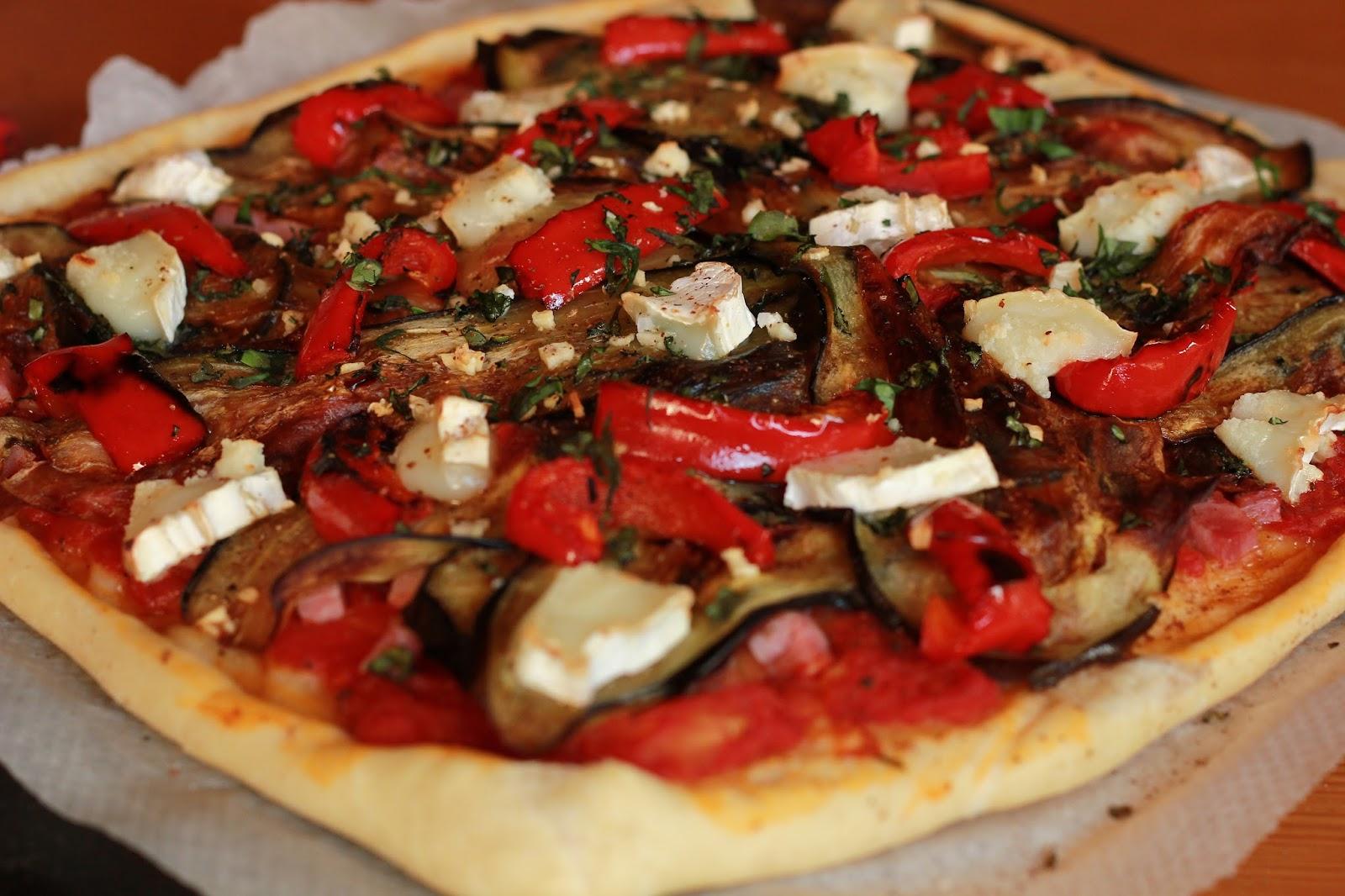 pizza aubergine poivron