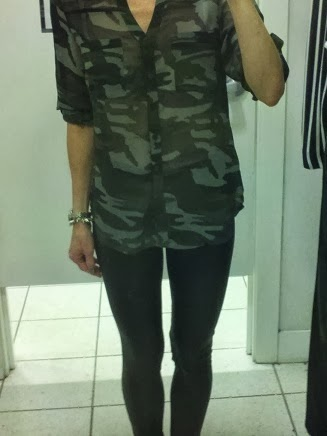 express portofino shirt, top, scuba leggings, camo, camouflage