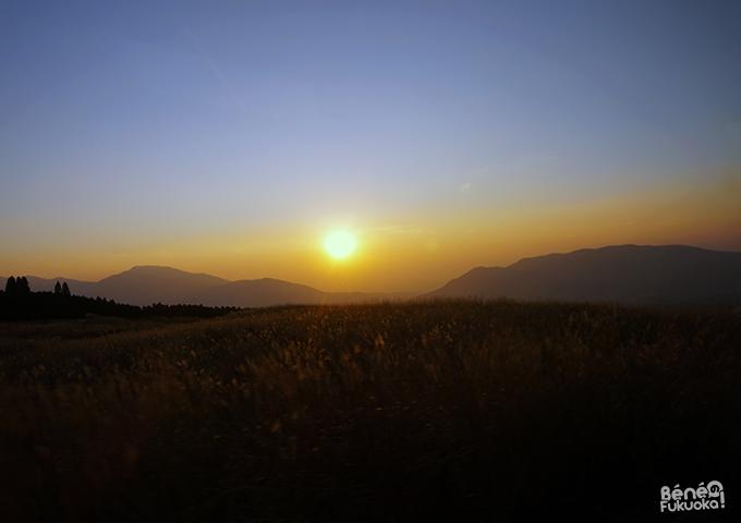 Coucher de soleil, Mont Aso