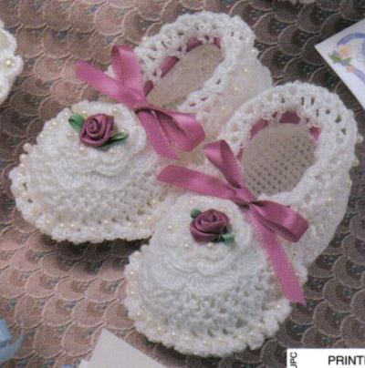 Lace Baby Booties Knitting Pattern : free knitting pattern: Knitting and Lace Baby Sneaker Models