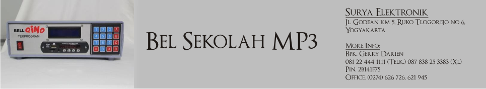 Toko Dealer Distributor TOA Jogja Bel Sekolah Mp3 Otomatis Gratis listrik download