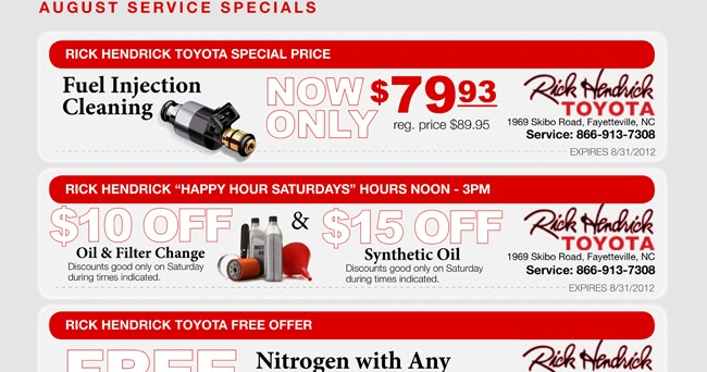 Mark miller toyota service coupons