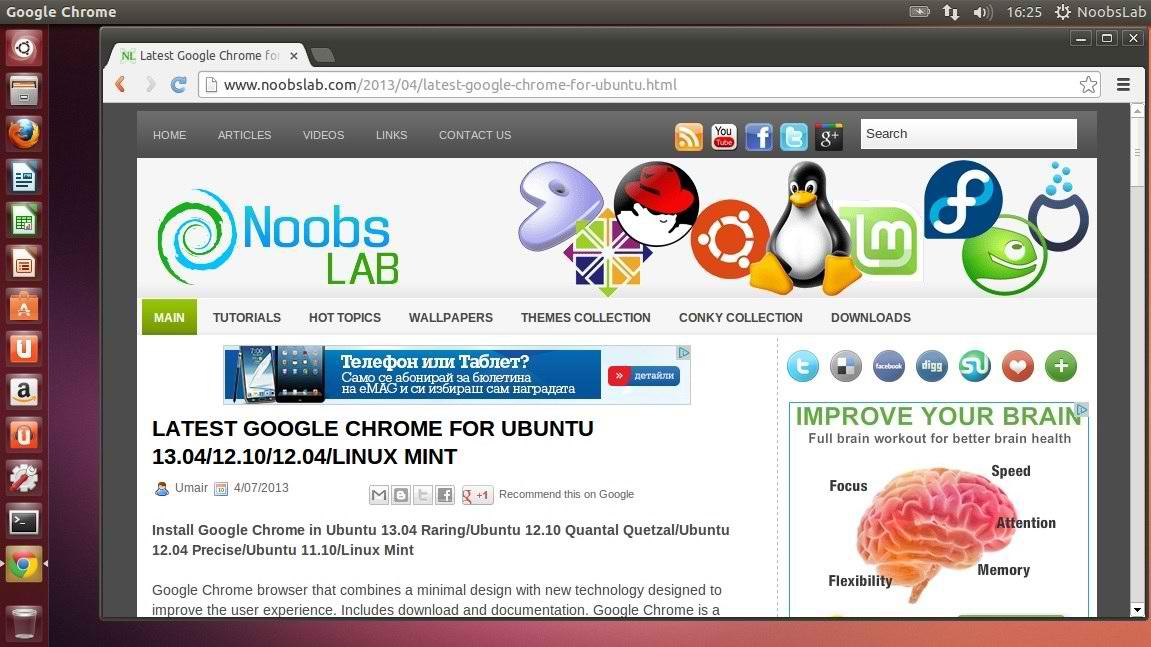 descargar google chrome ubuntu 12.10