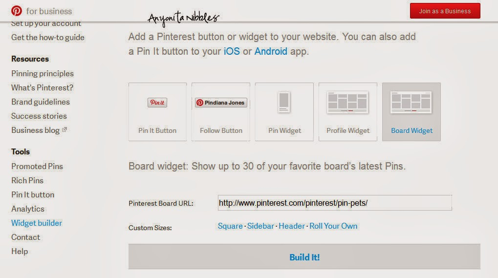 Embed Pinterest Boards into Blog Posts Step 5