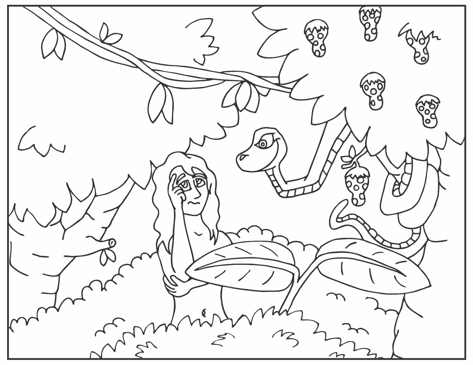 Free Coloring Pages Of The Garden Of Eden