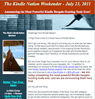 The Kindle Nation Weekender – July 23, 2011: Announcing the Most Powerful Kindle Bargain-Hunting Tools Ever!