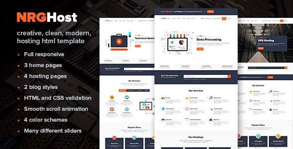 Flat Responsive Hosting Template