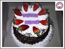 Black Forest Cake with whipping cream + strawberry