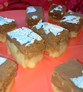 Chocolate Burfi Milk Halwa