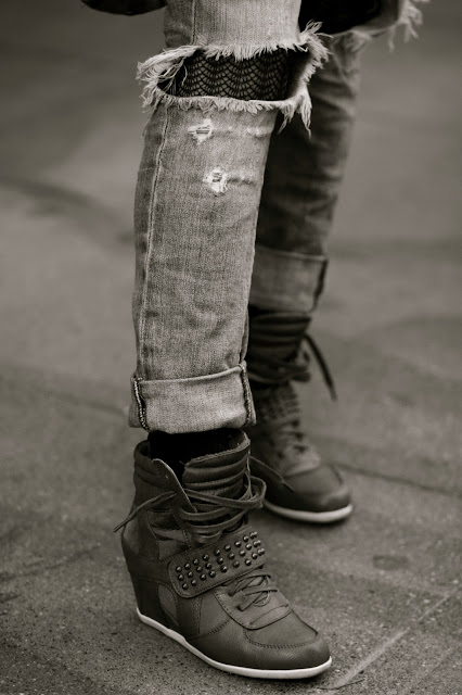wedge high tops seattle street style fashion vintage denim it's my darlin'